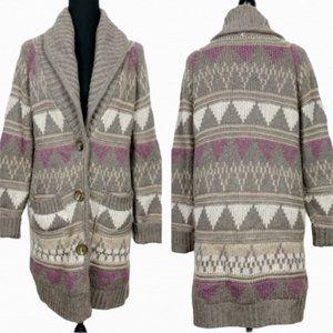Moda International Tribal Button Down Cardigan
